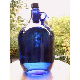 Garrafas de Vidrio Azul tipo Murano 2 Litros