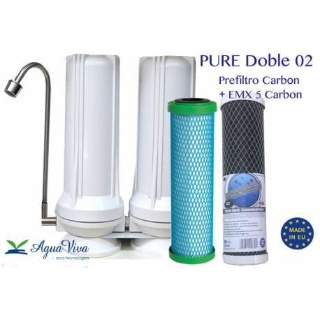 PURE Doble - Pre filtro Carbón + Cartucho EMX 5