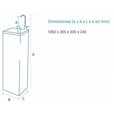 FUENTE Acero inox FC-1700