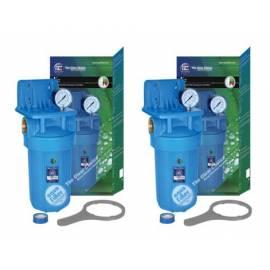 Filtros de agua Aqua Filter doble carcasa (Trifásico + Carbón)
