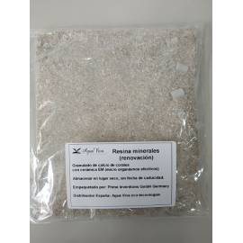 Cartucho Minerales MC-02: Recambio de minerales para el cartucho reutilizable ( solamente la resina )