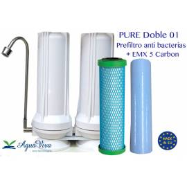 PURE Doble - Anti bacterias + Cartucho EMX 5